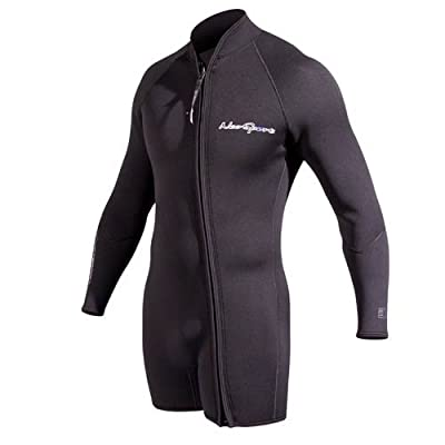 NeoSport Men's Premium Neoprene 5mm Waterman Wetsuit Jacket