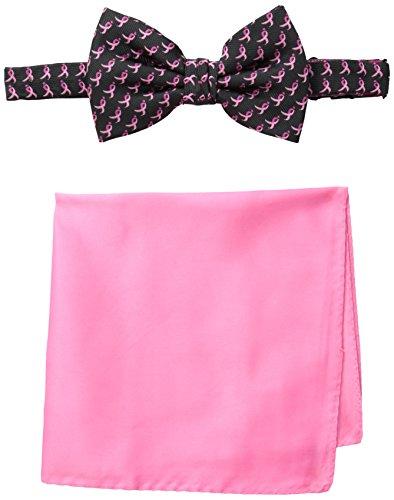 Susan G. Komen Men's Ribbon Allover Bow Tie, Black, One Size