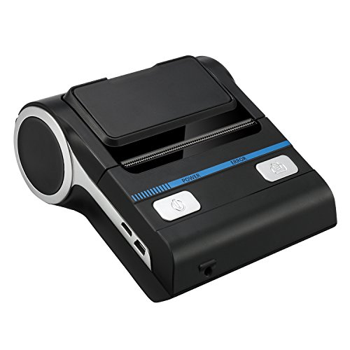 Thermal Printer Receipt Mobile Bluetooth 80mm Portable Wireless Bill/Receipt/Ticket Printer and USB Connection Printing Support 1D/2D Barcode Printing, Compatible with Android/iOS/Windows PC