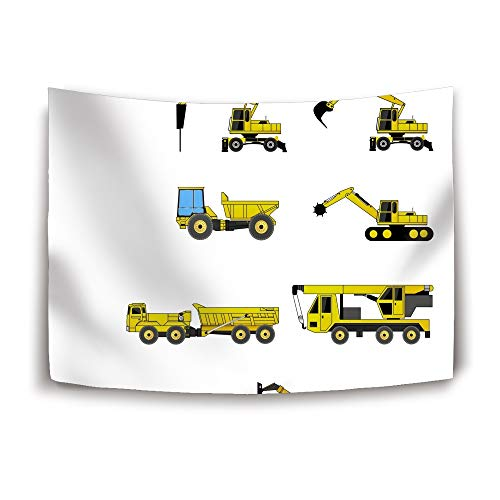 Christopher Macadam Collection of Engineering Vehicles Decor Tapestry, Fantastic Art Photo, Wall Hanging for Bedroom Living Room Dorm, 60X40 (Macadam Collection)