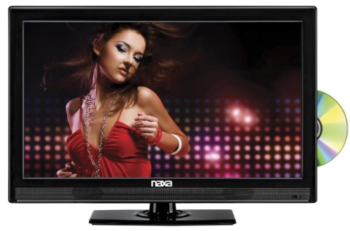 NAXA Electronics NTD-1552 15.6-Inch Widescreen HD LED TV with Built-in Digital TV Tuner and USB/SD Inputs and DVD - Ready Hd Screen Tv Flat