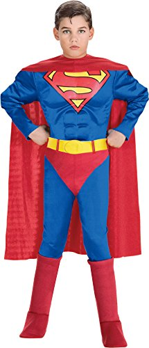 Deluxe Muscle Chest Superman Child Costume - -