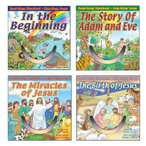 Bible Stories Read-Along Storybook & Sing-Along Songs 4-Pack