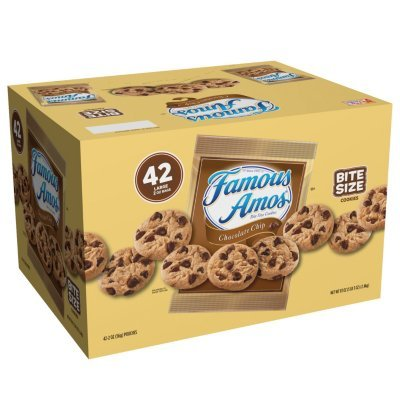 2 Cases Famous Amos Chocolate Chip Cookies (2 oz., 42 ct.) (Chocolate Chip) ()