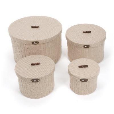 Set Cajas BebeDeParis en Beige - cajas forradas en punto para la habitación del bebé: Amazon.es: Bebé