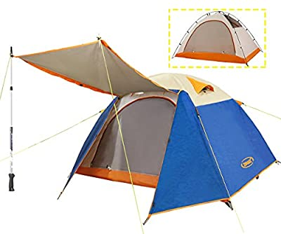 ZOMAKE Lightweight Backpacking Tent 2 Person - 4 Season Waterproof Camping Tent