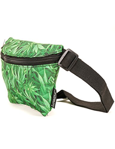 FYDELITY Fanny Pack Belt Bag Ultra-Slim Cannabis Buds Grass Dabs Kush Weed
