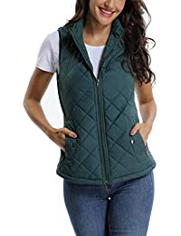 Zip up Stand Collar Lightweight Warm Quilted Gilets Padded Vest