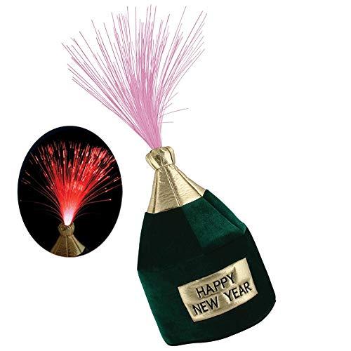 Beistle 80701 Light-Up Happy New Year Bottle Head Hat, 1 Per Package
