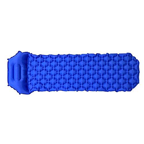 Alamana Outdoor Camping Moistureproof Inflatable Rapid Cushion Sleeping Pad Mat Air Mattress - Dark Blue