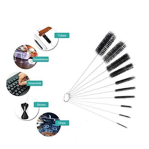 Cleaning Brush Tube Brush Kitchen Nylon Bottle ABEST Bottle Cleaning Brushes Airbrush Nozzle Drinking Straw for Glasses Narrow Neck Bottles