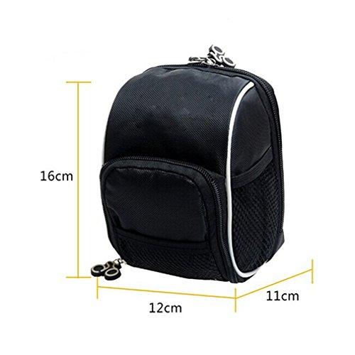 Price comparison product image Black Waterproof Bike Handlebar Bag Outdoor Cycling Bicycle Front Basket Seat Bag Saddle