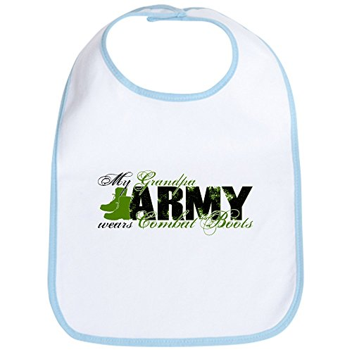 - CafePress - Grandpa Combat Boots - ARMY Bib - Cute Cloth Baby Bib, Toddler Bib