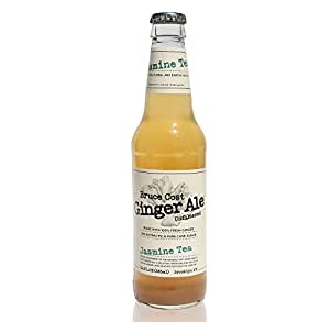 Fresh Ginger Jasmine Tea Unfiltered Ginger Ale by Bruce Cost 12 oz. Glass Bottles 24 Pack