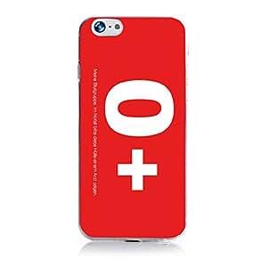 ArktisPRO Blutgruppe 0 funda con tapa para Apple iPhone 6 rojo