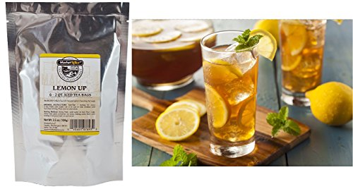 Flavored Unsweetened Iced Tea Bags, Marketspice Sun Tea Variety, Separate Assortment With Each Package Containing 6 - 2 Quart Tea Bags (Lemon Up)