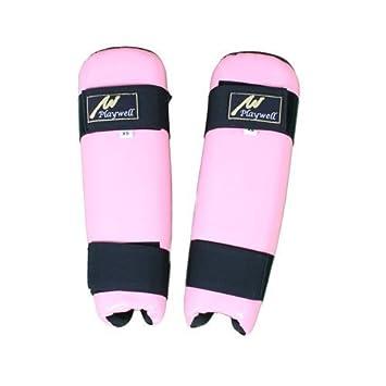 Playwell Ladies Pink Vinyl Shin Pads (Guards)  Amazon.co.uk  Sports ... 6d6c6ec1f302