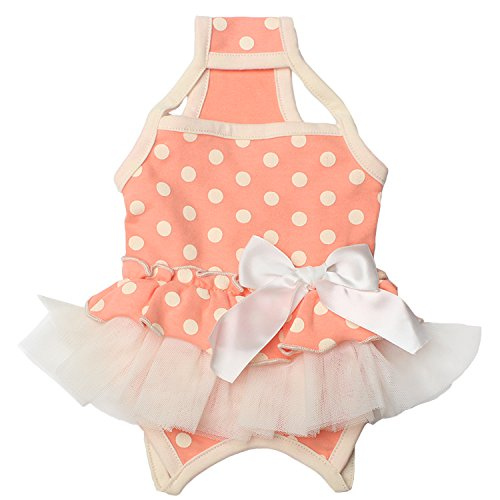 TONY HOBY Pet Dog Summer Braces Dresses Shirts Dog Skirts Suspenders With Cute Polka Dots For Small Dogs by TONY HOBY