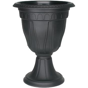 DCN Plastic 1420BK Tall Azura Urn Planter, Black
