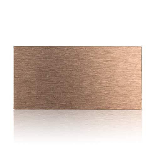 Copper Backsplash (Decopus Peel and Stick Subway Tile for Kitchen Backsplash (Brushed Copper 3