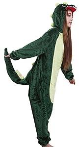 IDIFU Women's Men's Unisex Animal Plush Fleece Hooded Pajama Onesie