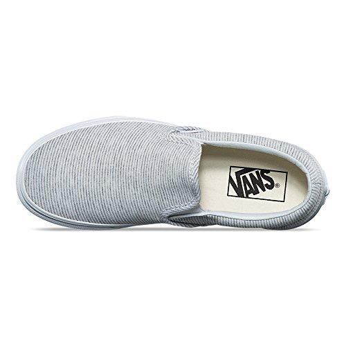 Vans Unisex Classic Slip On (Jersey) Skateboard Sneakers (Jersey) Gray/True White mPegqSrI1