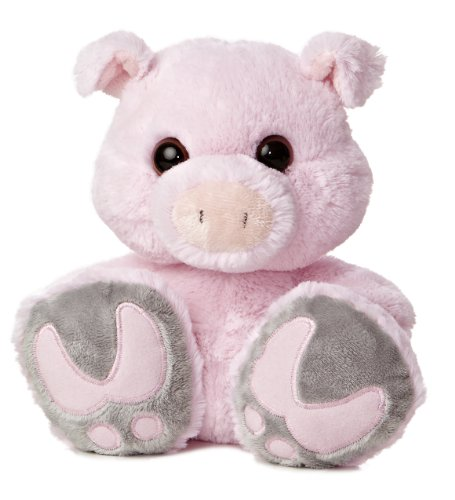 "Aurora World Taddle Toes Snortster Pig Plush, 10"" Tall"