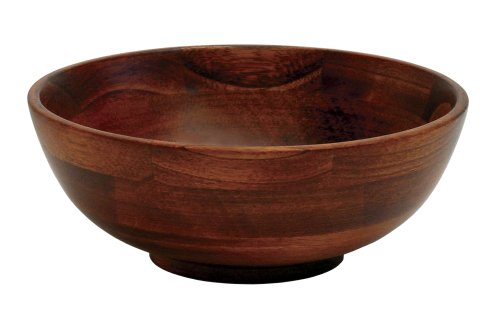 (Lipper International 273 Cherry Finished Footed Serving Bowl for Fruits or Salads, Small, 7