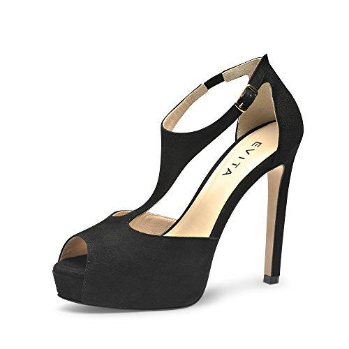BEPPINA Noir Daim 41 Sandales Femme 7xTzqZCw7