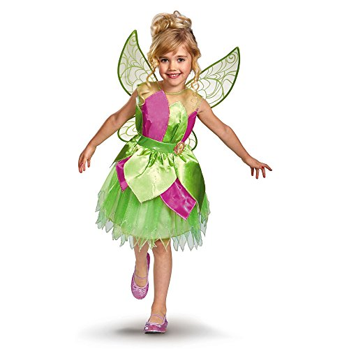 Disney Fairies Tinker Bell Deluxe Girls Costume,