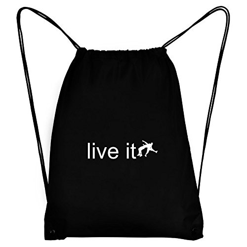 Teeburon LIVE it Wrestling Silhouette Sport Bag by Teeburon