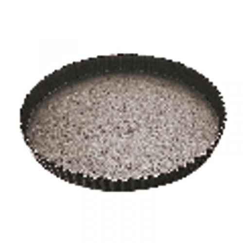 Paderno Non Stick Fluted Round Tart Mould/Flan Tin/Quiche Tin 240mm