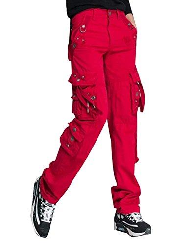 De Deporte Otoño Bolsillos Lounayy Largos Metal Rectos Hebilla Rot Placket Pantalon Outdoor Jogging Moda Mujer Senderismo Fit Múltiples Con Primavera Slim Pantalones w7q0nUFIWq