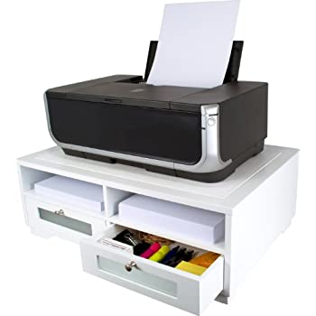 Victor Wood Printer Stand, W1130 Pure White