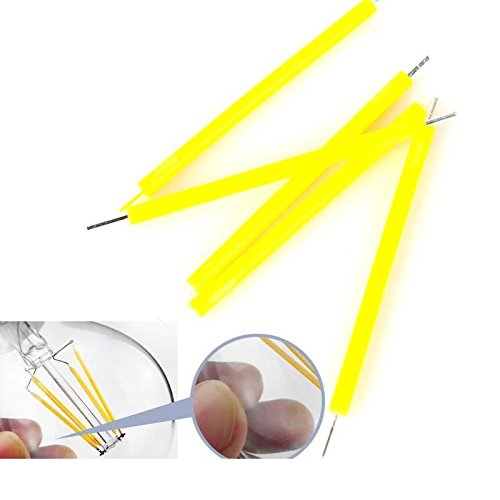 CrazyDeal pure white 1W COB LED Filament Light Source for LED Bulb Globe Candle Light Warm White DIY Shinning magic