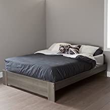 South Shore Furniture 60-Inch Gloria Platform Bed, Queen, Gray Maple