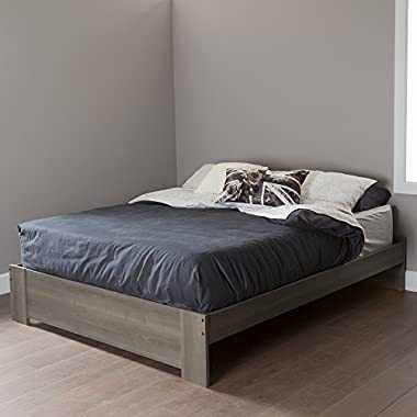 South Shore 60  Gloria Platform Bed, Queen, Gray Maple