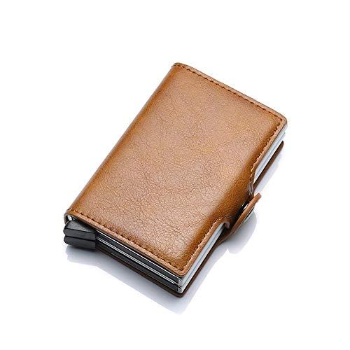 Card Qualità In Mini Uomo Borsa Brown Rfid Sezione Portafoglio Portafogli Alta Weohau Alluminio Nero Sottile Per Di fxI6wSAq