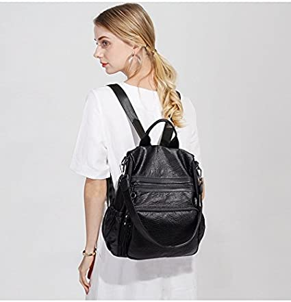 Hong Kong 2018 IT New Genuine Soft Leather Shoulder Bag Korean Version and All-match Backpack for women