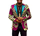 Comaba Men Dashiki Floral Jacket Africa Leisure Batik Vintage Retro Blazer 18 5XL