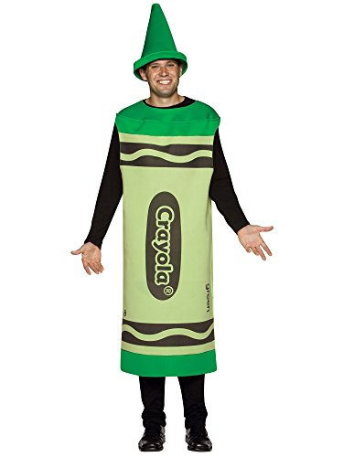 Crayola Adult Costume Size: Large / Extra Large, Color: Green (Crayola Costumes For Adults)