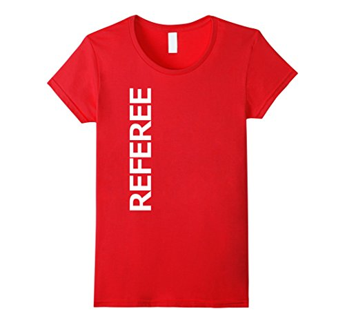 [Womens Referee Sport Uniform-Costume Jersey Shirt Small Red] (Woman Referee Costume)