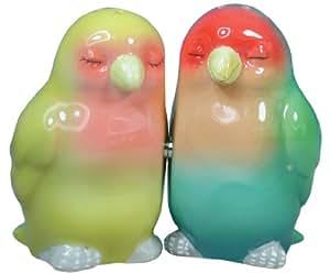 Westland Giftware Mwah Magnetic Lovebirds Salt and Pepper Shaker Set, 3-Inch