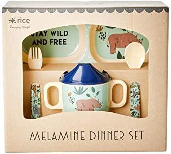 Melamin Muster Jungle Animals Baby-Geschirrset in Geschenkverpackung