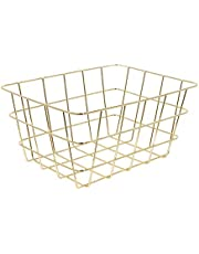 The Home Deco Factory KA2796 Wire Basket, Metaal, Goud, One Size