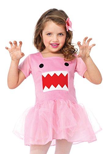Leg Avenue Domo Tutu Dress & Print Leg Warmers (2 Piece), Pink, Small - Pink Domo Costumes
