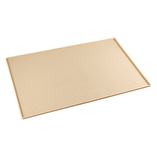 PETCEE Cat Food Mat Reduce Mess of Feeding, Non-Slip and Waterproof