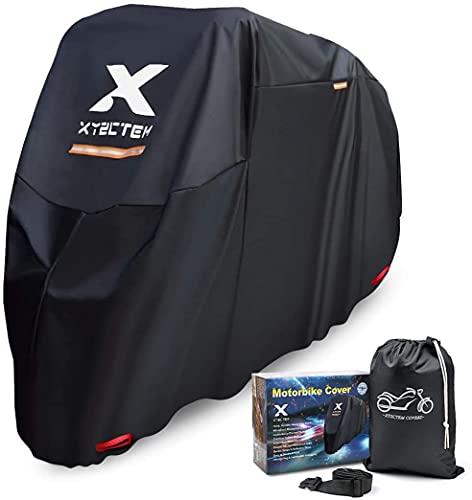 XYZCTEM Motorradabdeckung, Wasserdicht Extra Strapazierfähig Dicke 210D Oxford, All Season Outdoor Schutz für Motorräder…