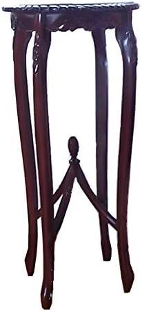 チェンエン・ジャパン有限会社 ロココ調マホガニー家具 アンティークブラウン 花台 ブラウン