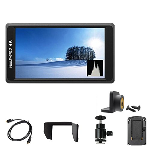 "FEELWORLD F550 5.5"" 4K On-camera Mini Monitor with HDMI Input/ Output IPS Full HD 1920x1080 For Stabilizer"